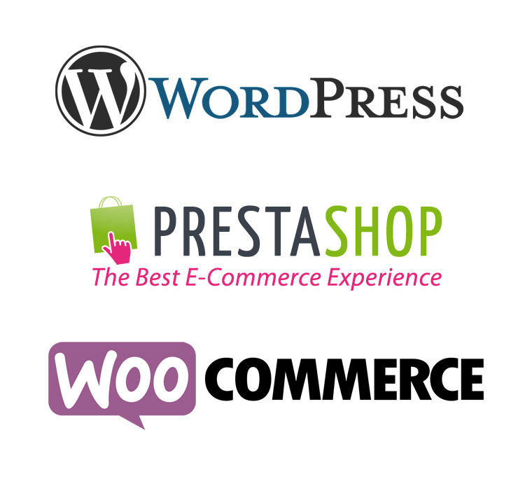 Wordpress, Prestashop, WooCommerce